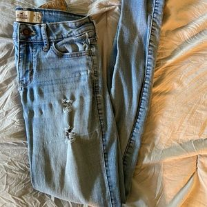 ripped super skinny jeans